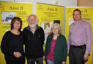 Asse-Gespräch mit Prof. Betram (von links nach rechts Heike Wiegel, Prof. Betram, Ursula Kleber, Udo Dettmann)