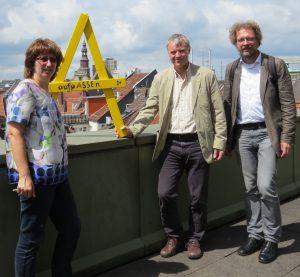 Heike Wiegel, Hans Jürgen Thiel und Andreas Riekeberg in Hannover