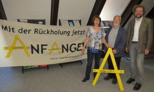 Heike Wiegel, Hilmar Nagel und Andreas Riekeberg in Hannover